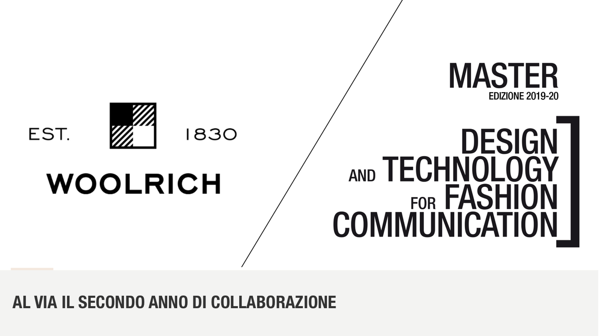 Woolrich E Master Dtfc La Partnership Continua Design And Technology For Fashion Communication Master I Livello